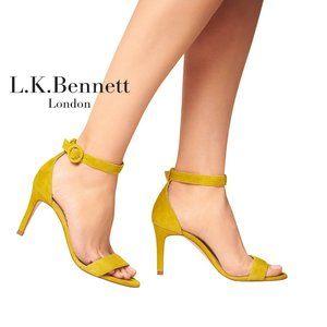 🆕L.K. Bennett Open Toe Heel Sandal YELLOW CITRUS